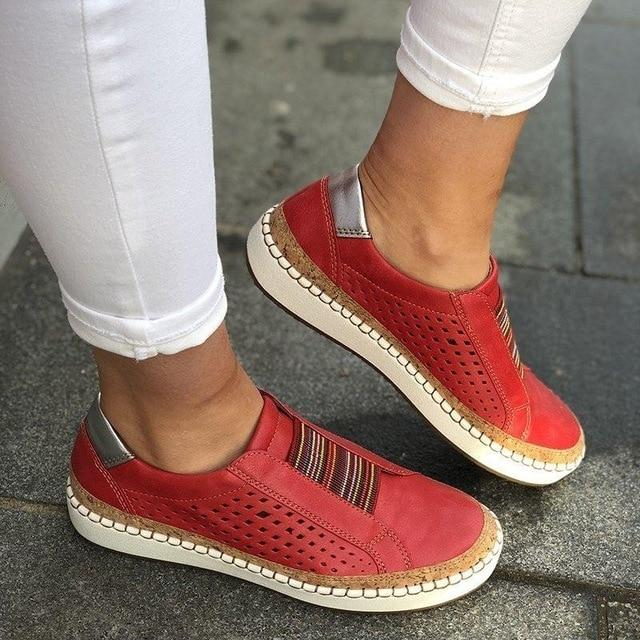 2020 Hollow Out Women's Shoes Casual Flat