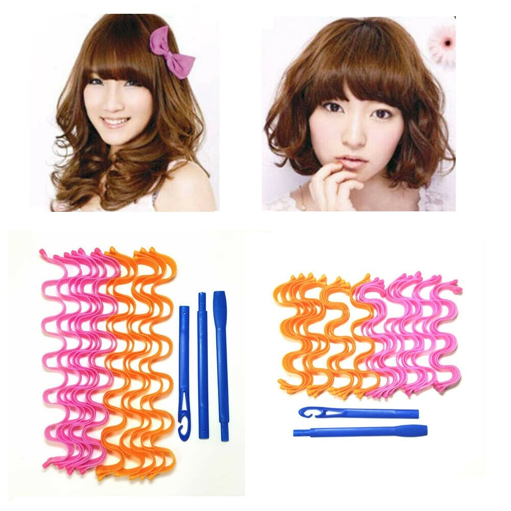 Magic Long Hair Curlers Formers Spiral Ringlets Leverage Rollers Tool