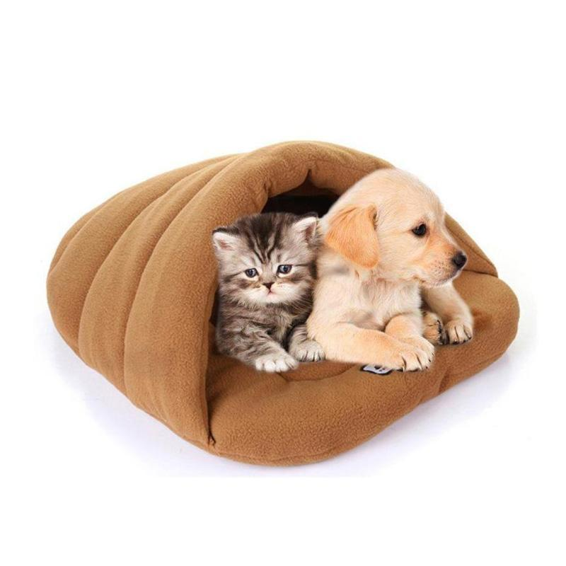 Soft Thick Warm Fleece Pet Sleeping Cave Bed for Dog/Cat/Puppy