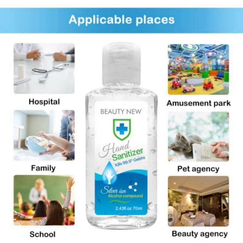 70ML HAND CLEANER SANITIZER HAND SOAPS DISPOSABLE RINSE FREE HAND SANITIZER
