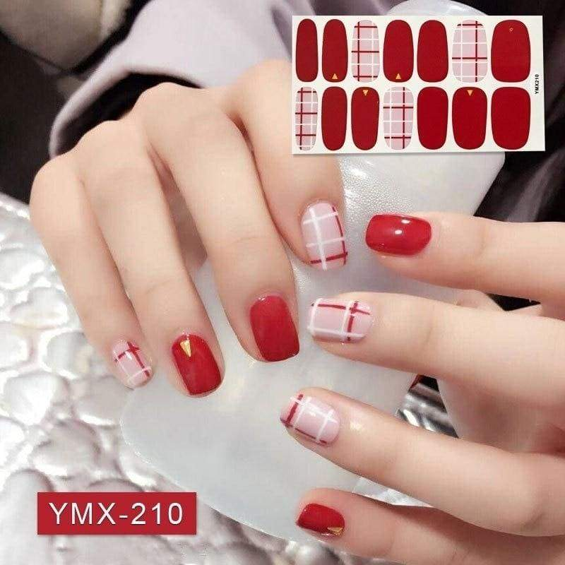 28 tips Nail Art Stickers Full Cover Sticker Wraps Decorations DIY Manicure Slider Nail Vinyls Nails Decals Manicure Art