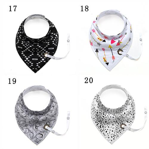2018 New INS Fashion Cotton Baby Bandana Bib Newborn Babador Feeding Burps Cartoon Fox Infant Baby Bibs with Strap Baby Newborn Burp Cloths