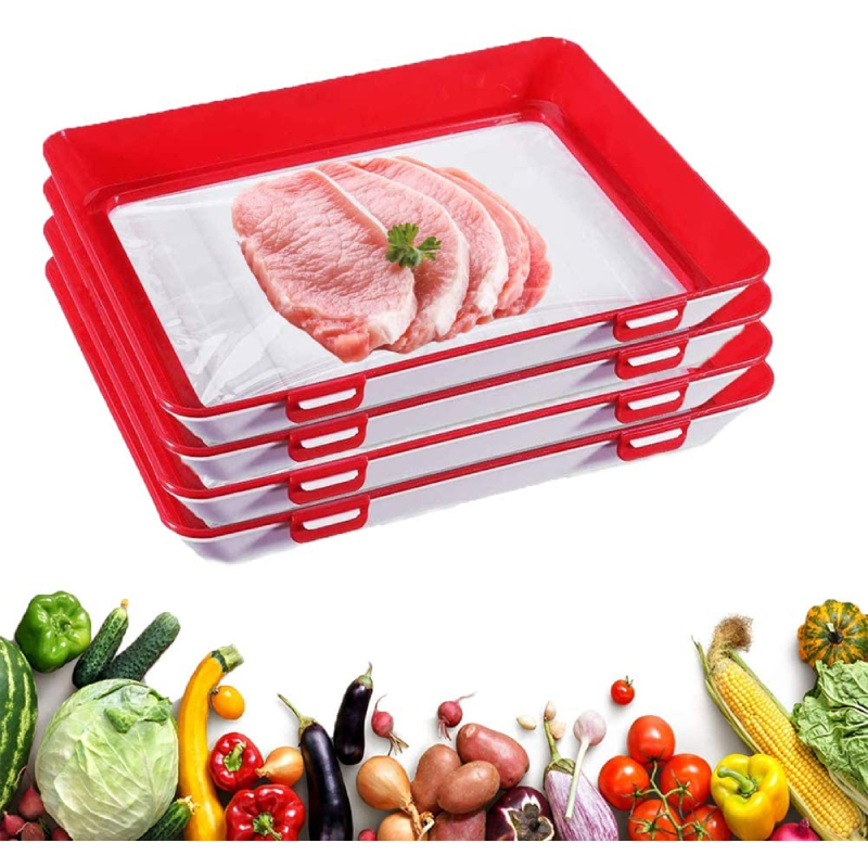 4 Reusable Food Preservation Trays