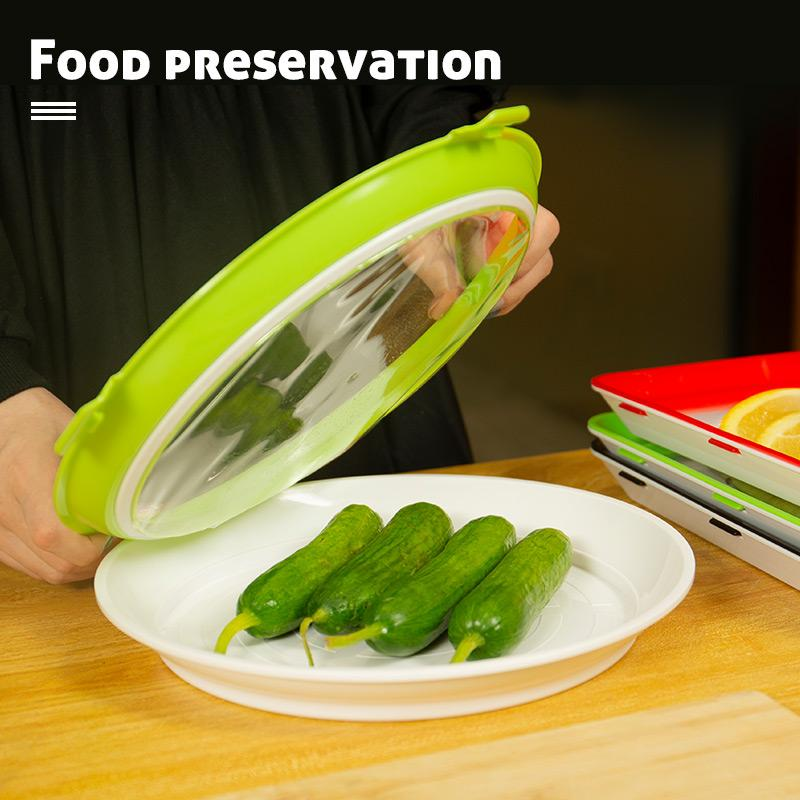 2020 Fresh Food New Idea - Round Food Preservation Tray