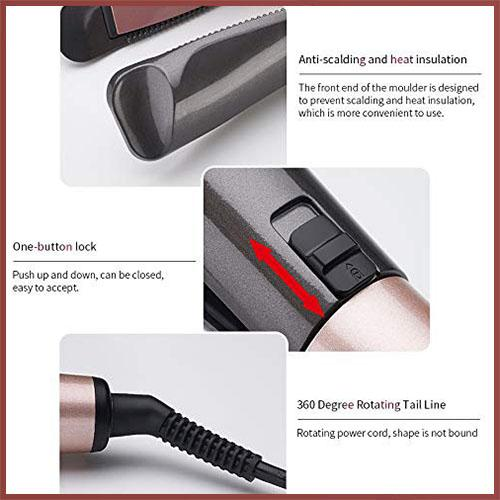 (Holiday Promotion - 60% Off ) Automatic Release Negative Ions 2 in 1 Hair Curler and Straightener