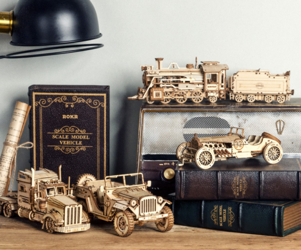 Wooden mechanical model puzzle - Retro car series(Any 2 Free Shipping)