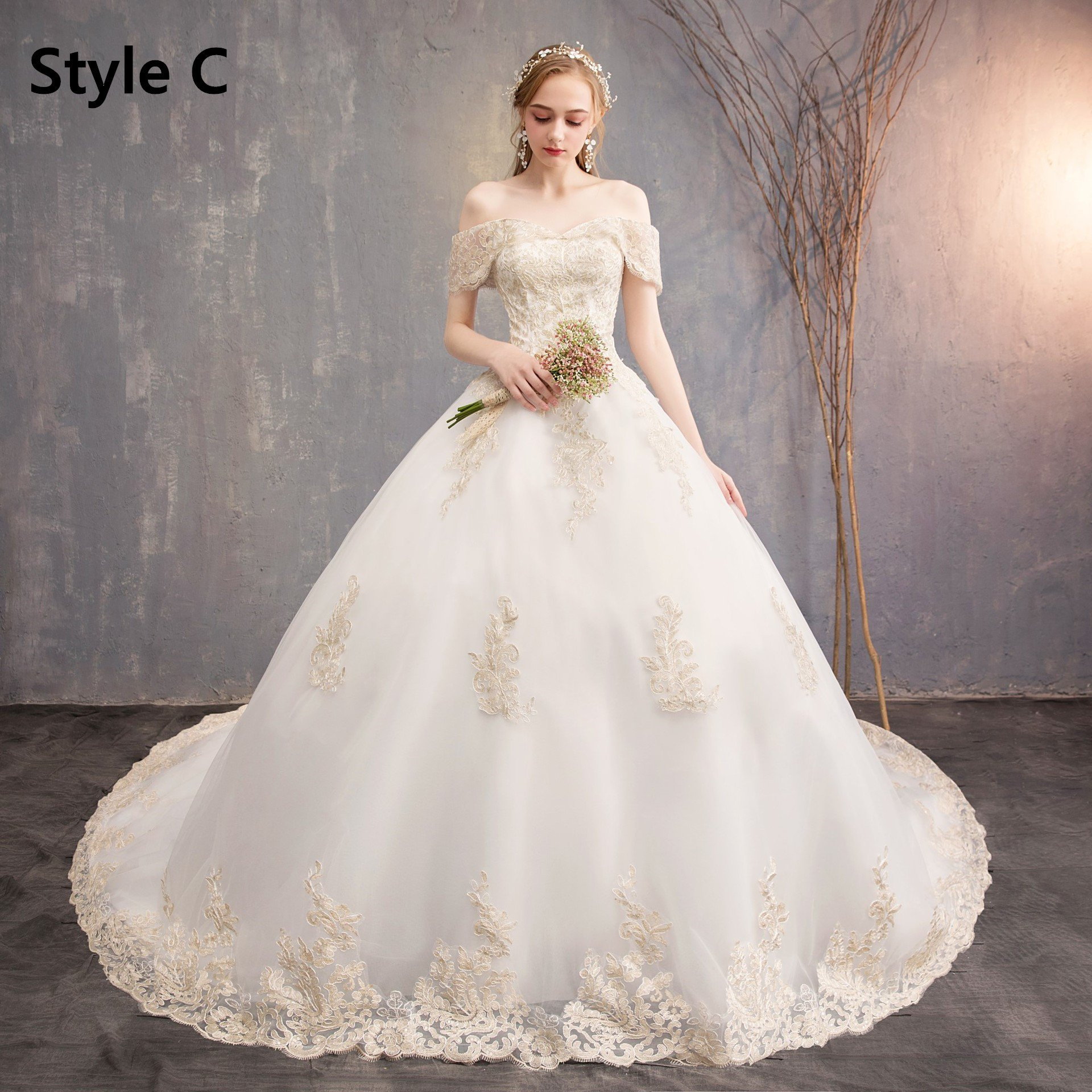 Lace Wedding Dresses 2020 New 715 Wedding Wear Gown Hot Dresses Blue And White Floral Maxi Dress Long Evening Gowns Red Wedding Lehenga Ivory Lace Flower Girl Dress