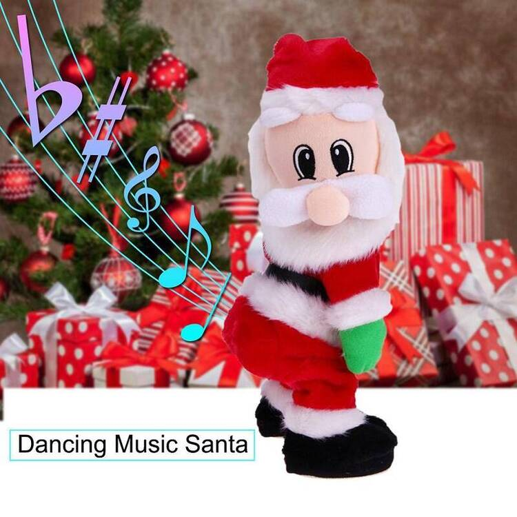Children Christmas Gift And Decoration Electronic Musical Singing Santa Claus Dancing Shaking Hip Twisted Toys