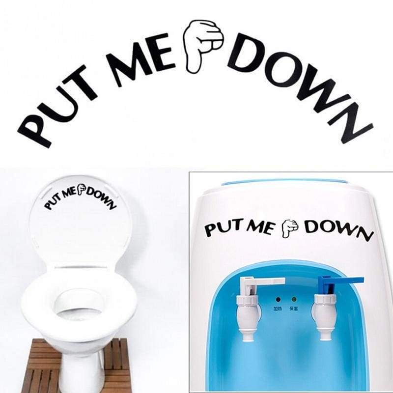 Toilet stickers 1 piece bathroom toilet seat PVC 1*pvc wall decal