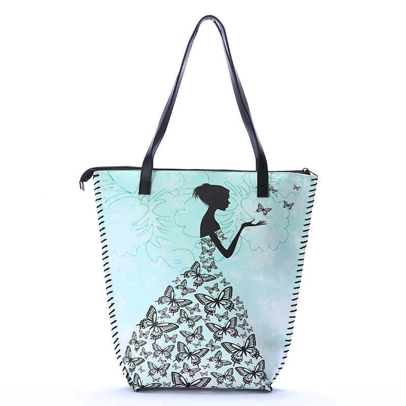 Ethnic style one shoulder shopping bag