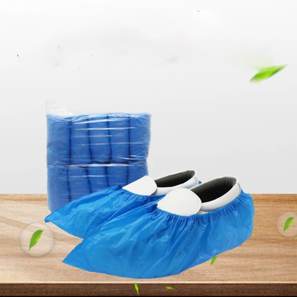 100 Pcs Disposable Shoe Covers Thicker Non-woven Dustproof Non-slip Shoe Cover Household Foot Cover Overshoes Carpet