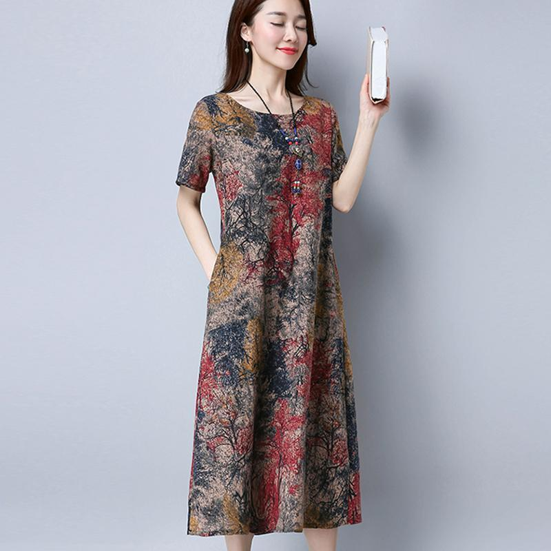 【Hot sale】Stylish cotton-linen leisure dress