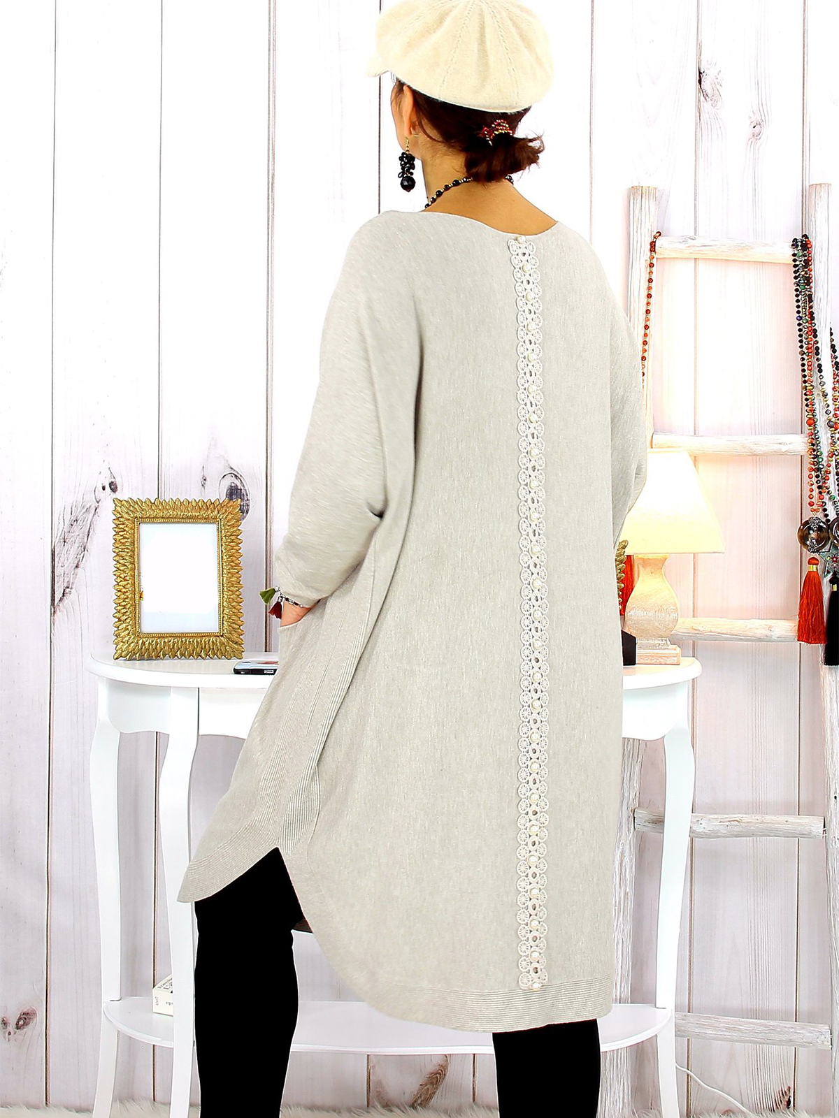 Casual Cotton,Polyester Long Sleeve with Dresses(Plus Size)