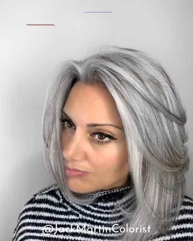 2020 New Gray Hair Wigs For African American Women Grey Hair Women Silver Hair Dyed Best Wig Caps Brow Wigs Cher Wig