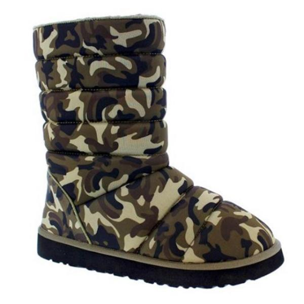 Faddishshoes Camouflage Thick Cotton Boots