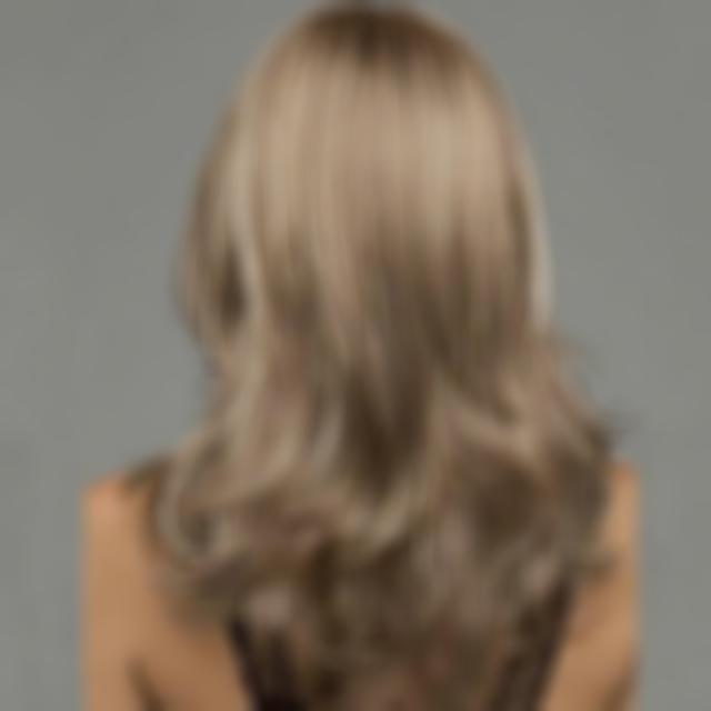 KAMI 174 Natural Light Brown Highlights Wave Long Wigs for Women