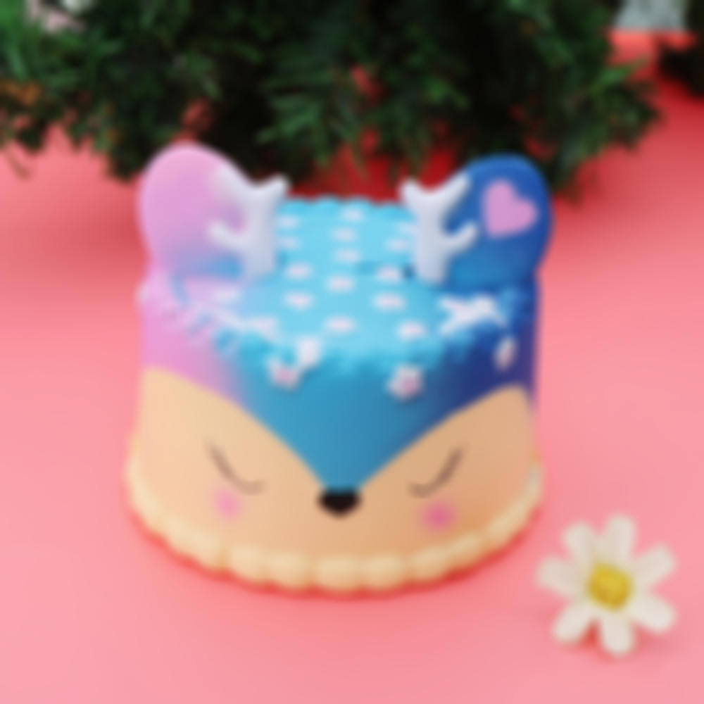 Fawn Deer Cake Squishy 9.5*10 CM Slow Rising With Packaging Collection Gift Soft Toy