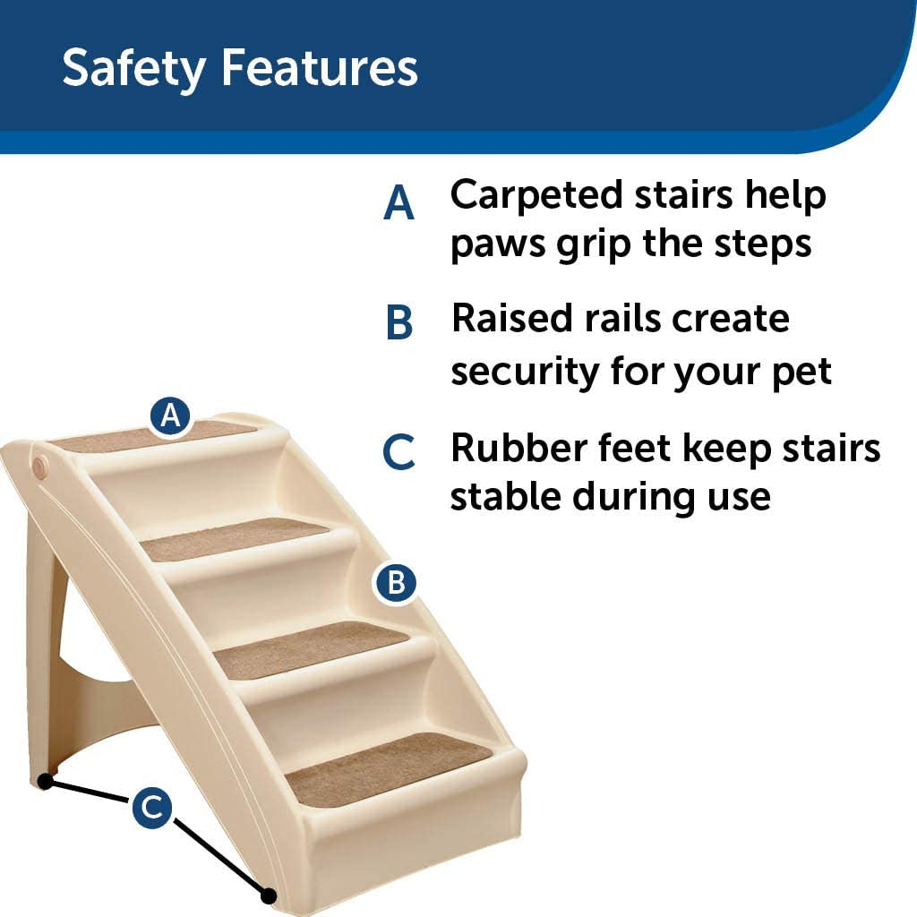 Folding Pet Steps, Foldable Steps for Dogs and Cats, Best for Small to Large Pets
