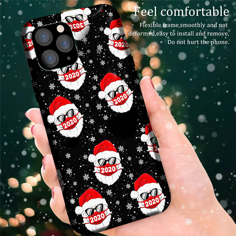 【🎅Christmas sale-BUY 2 GET 10% OFF🎄】Santa With Face Mask Christmas IPhone Case