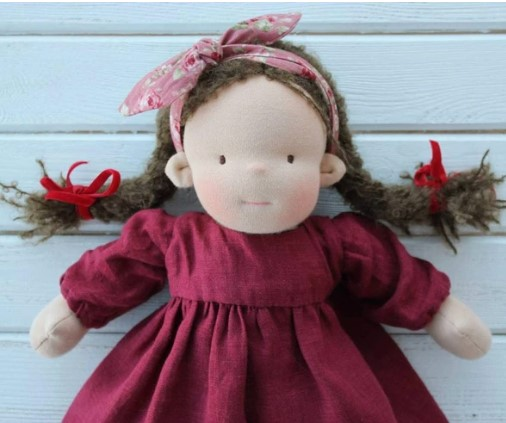 Liberty Dress For Waldorf Doll - Doll Clothing #17