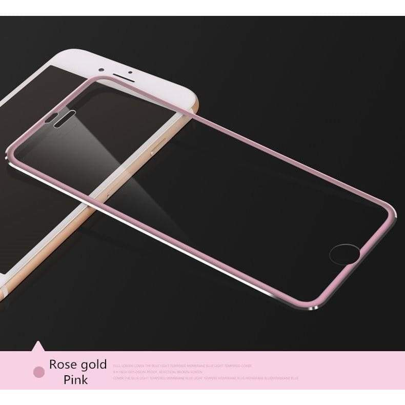 Aluminum Alloy Full Screen Coverage Tempered Glass Phone Screen Protector for Iphone X IPhone 5 5S 5C SE Iphone 6 Plus 6s Plus 3D Edge Full Screen Cover for Iphone 7 7Plus Iphone 8 8 Plus