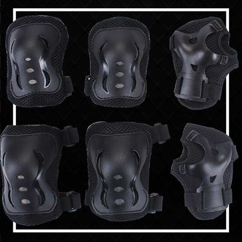 Children's Skating Protective Gear 6 Sets of Knee Pads and Wrist Guards  Men and Women