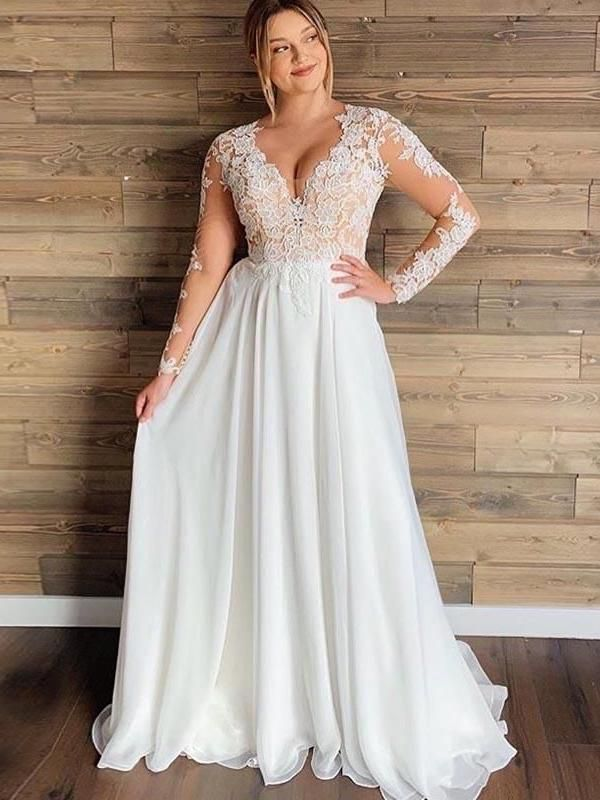 Fashion Long Sleeve Wedding Dress Yellow Long Dress Two Piece Wedding Dress Boho Formal Outfits With Jeans Party Wear Dress