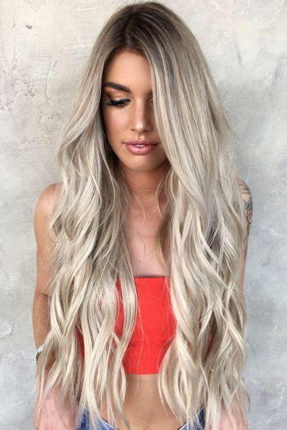 2020 Fashion Ombre Blonde Wigs 20 Inch Lace Front Wig