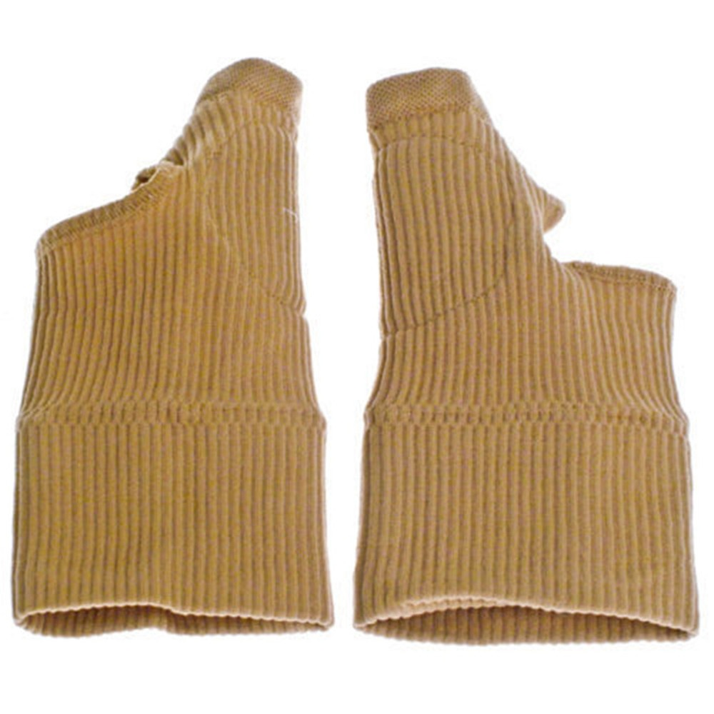 Beige Color Compression Medical Wrist Gel Filled Brace & Supports Arthritis Gloves Therapy Gloves Thumb Glove