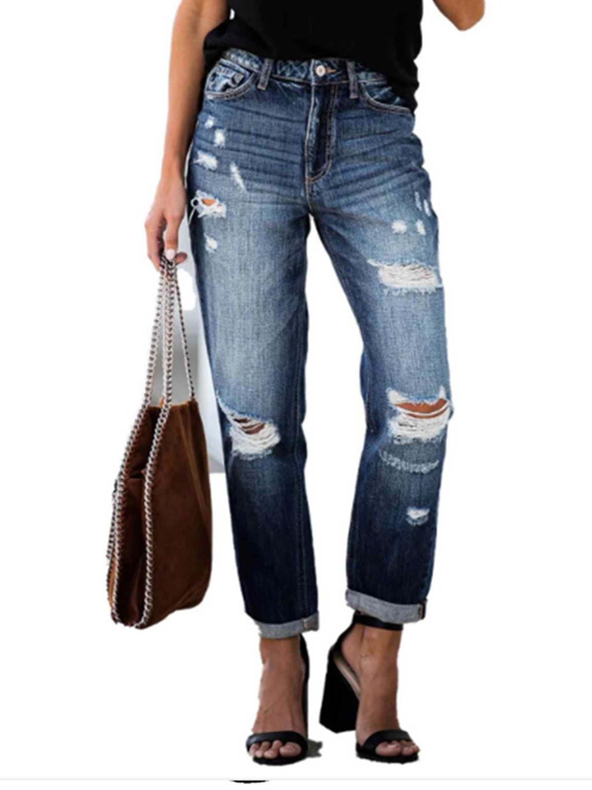 Ripped sexy women's jeans