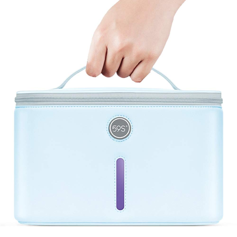 UV Light Sanitizer Bag, Long-lasting work, 3 minutes sterilization,UV Disinfection Box, UVC Cleaner Disinfection Lamp Compact for Mobile Phone, Clothes