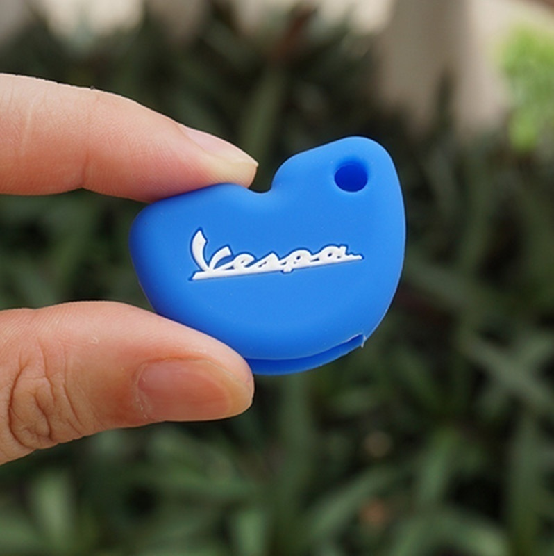Silicone Rubber Car key fob set case cover cap sticker protect keyring keychain For Vespa piaggio new fly 3vte 125 gts gtv 250