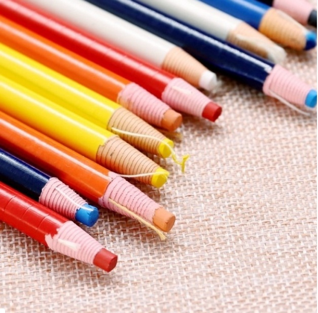 3/6/12pcs Cut-free Sewing Pencil Chalk Fabric Marker Pen Sewing Chalk Garment Pencil for Tailor Sewing Accessories