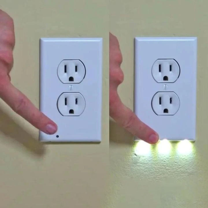 (❤️Women's Day Flash Sale - 50% OFF) Outlet Wall Plate With Night Lights - No Batteries or Wires-[UL FCC CSA CERTIFIED]