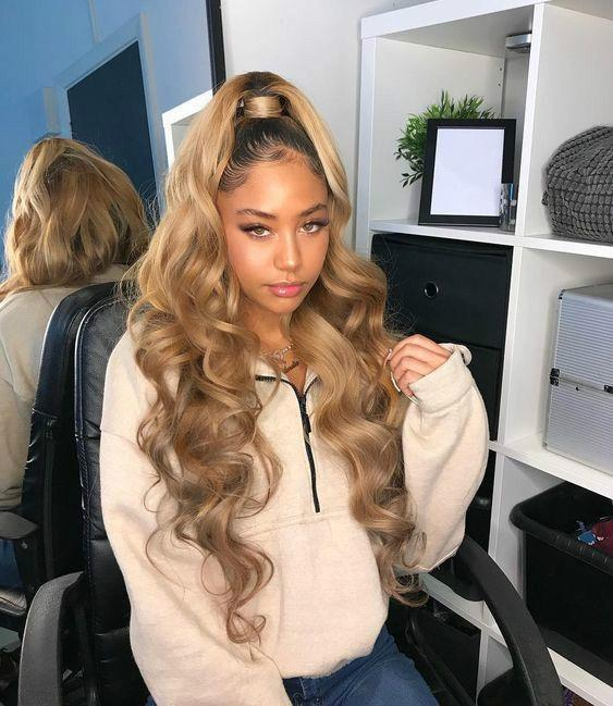 2020 Fashion Ombre Blonde Wigs Best Lace Front Hair Glue