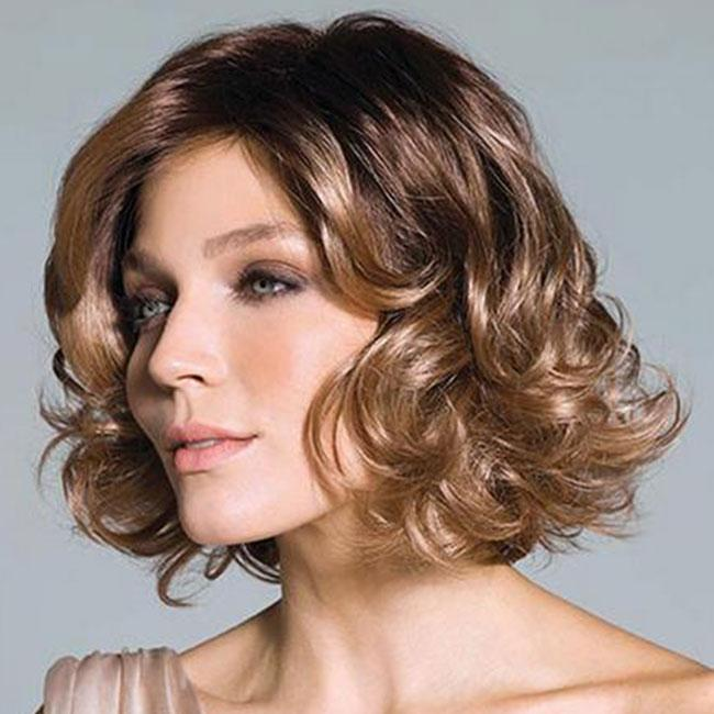 KAMI 066 Gorgeous Collar Length Curly Bob Wig for Women