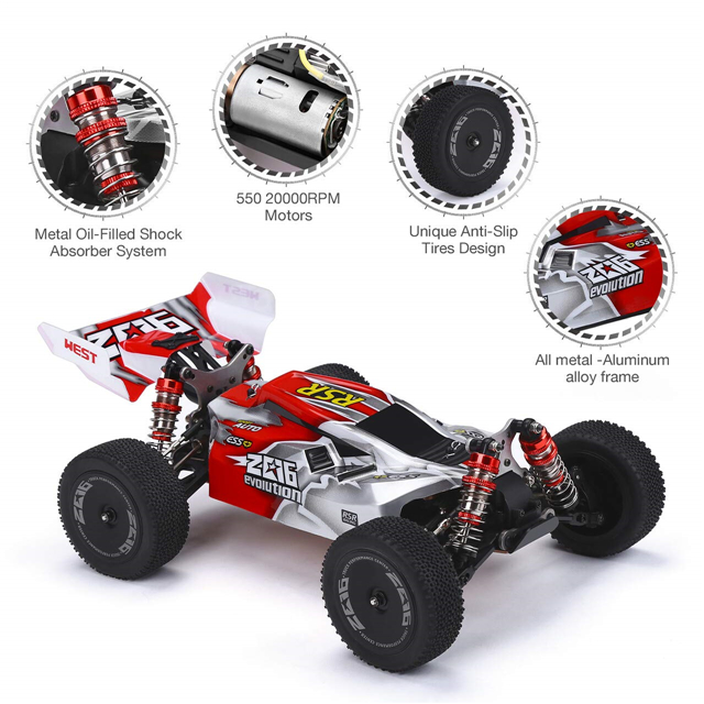 Remote Control Car, 1:14 Scale 60+ KMH High Speed RC Cars
