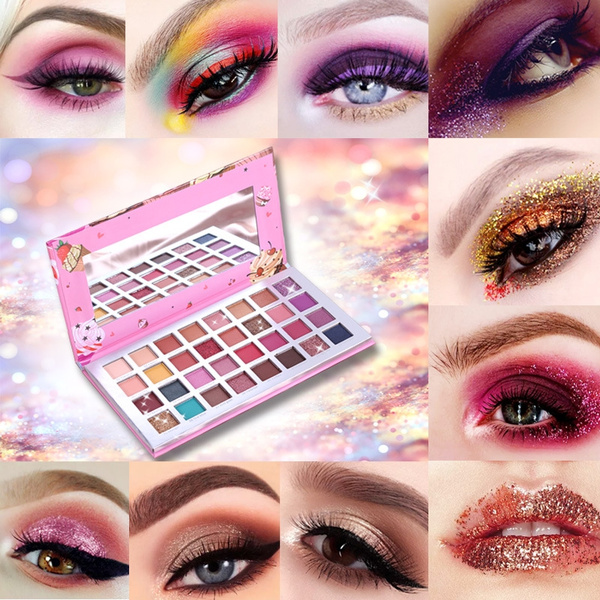 Ice Cream 32 color eye shadow disk dream country land color beads bright film fish color INS eye shadow