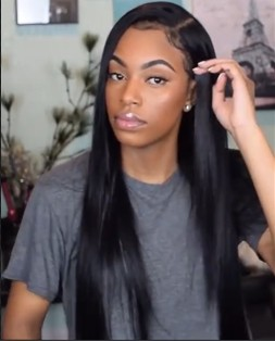New Christmas special OFF Ponytail Bun Straight Wig Styles