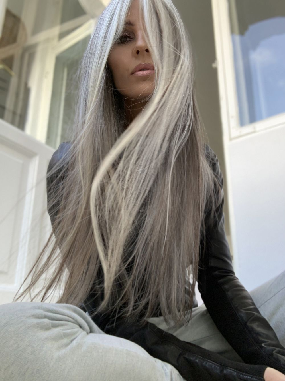 2020 New Gray Hair Wigs For African American Women Fake Wigs Hair Turning Grey Grey Hair At 22 Flat Top Wig Witch Wig