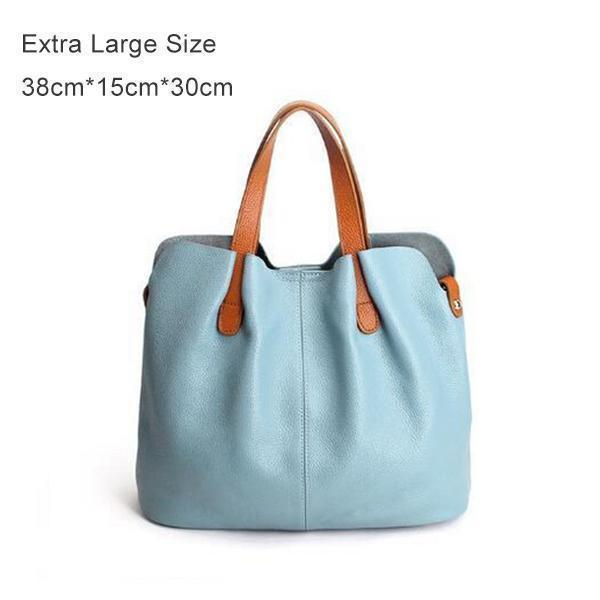 Two In One Leather Shopper Tote Bag(buy 2 free shipping)