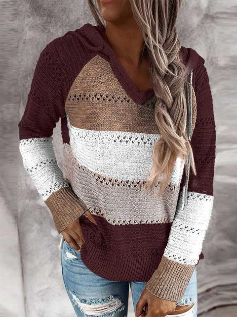 Hollow Out Knitted Lightweight Hoodie