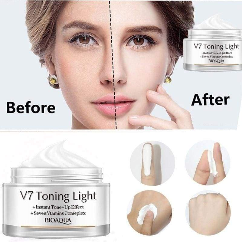 New V7 Vitamins (Oil-free) Whitening Cream Effective Repair Rough Skin Smooth Face Care Moisturizing Day Cream
