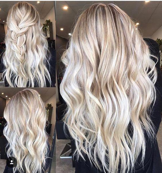 2020 Fashion Ombre Blonde Wigs Ash Blonde Highlights On Brown Hair