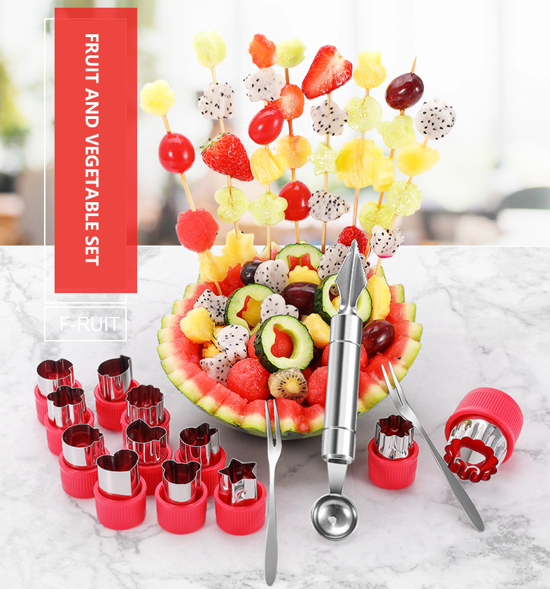 Best Selling-Fruit Carving Knife Stainless Steel Eating Fruit Tools Kitchen Platter Tool Fruit Carving Watermelon Artifact