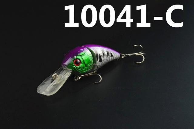 14G 85Mm Minnow 2 Jointed Rock Crank Bait Bass Treble Hook Swing Lure Baits S