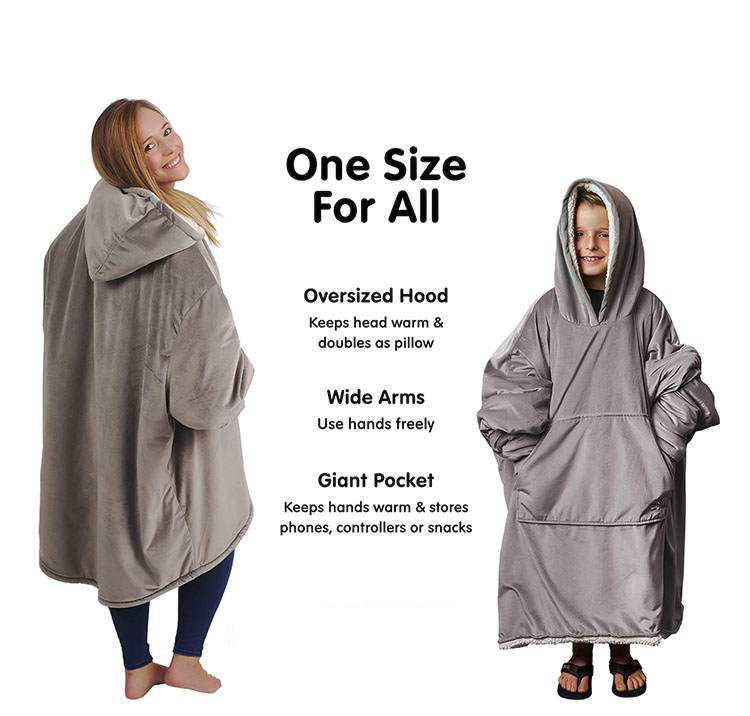 Adults & Teens Comfy Huggle Hoodie Blanket