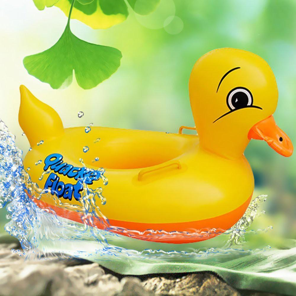 Thrivanta Rubber Duck Pool Float for Kids, Swimming Pool Floats Boat Seats Beach Toy, Baby Shower Bath Seat Tube(Yellow) Inflatable Swimming Safety Tube(Yellow)