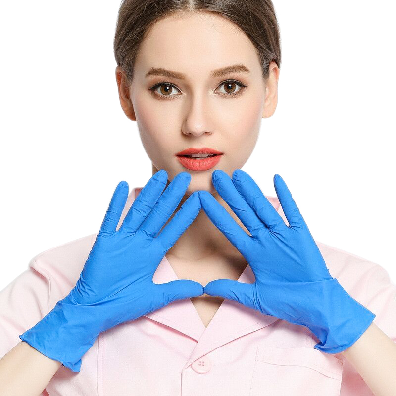 Nitrile Disposable Gloves Medium or Large - 100Pcs (Blue)