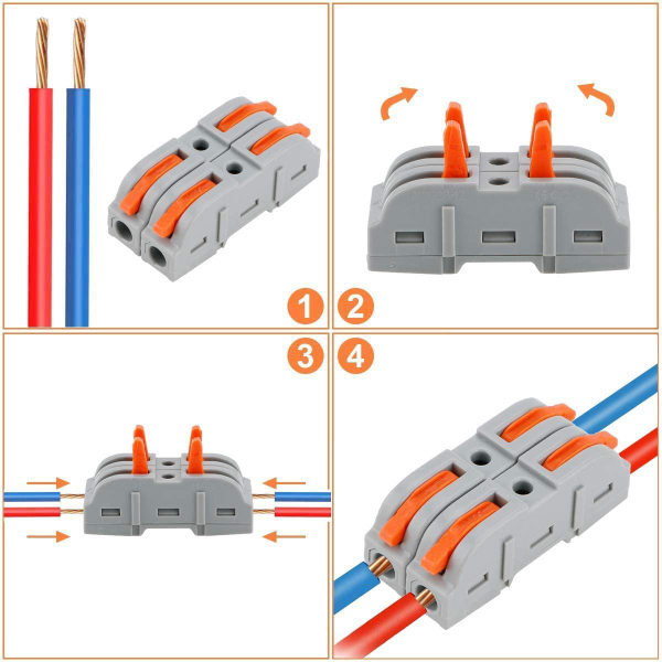 (Early Father's Day Promotions-50% OFF) One-to-one Quick Terminal Block Wire Connector